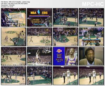 27.march 1981	Seattle - Lakers   90-97